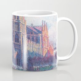 Notre Dame Cathedral, Paris, France Masterpiece by Maximilian Luce Coffee Mug