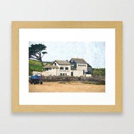 Pilchard Inn, Burgh Island, Bigbury-on-Sea Framed Art Print