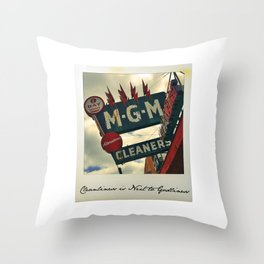 Cleanliness Is Next to Godliness Throw Pillow