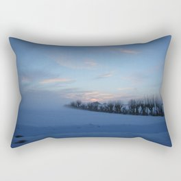 Shot of the Winter Rectangular Pillow