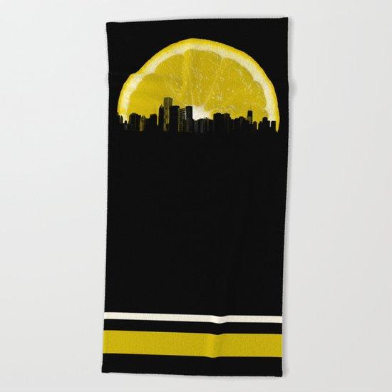 super lemon Beach Towel