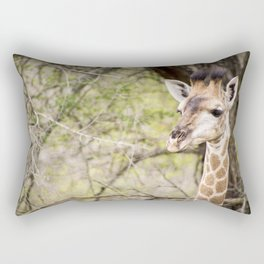 giraffe safari tour Rectangular Pillow