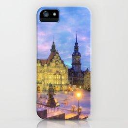 Dresden skyline at dusk iPhone Case