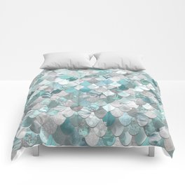 Mermaid Aqua and Grey Comforters