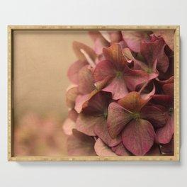 Hydrangea Flowers Serving Tray