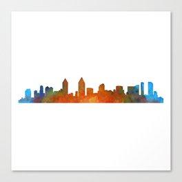 San Diego California City Skyline Watercolor v01 Canvas Print