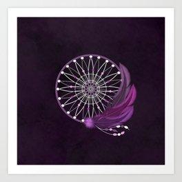 Purple Dream Catcher Art Print