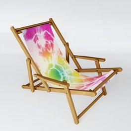 Tie-Dye Sunburst Rainbow Sling Chair