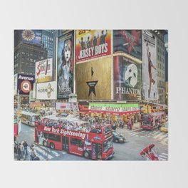 Times Square II Throw Blanket
