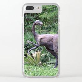 Dinosaur Sculpture Clear iPhone Case