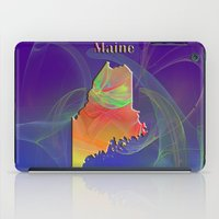 maine iPad Cases featuring Maine Map by Roger Wedegis