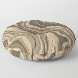 Earth Brown Marble Lines Floor Pillow