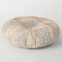 Alexis de Tocqueville Quote Floor Pillow