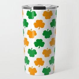 Irish Shamrocks Travel Mug