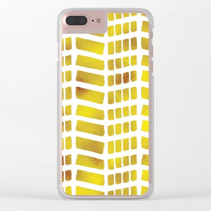 Gold bricks Clear iPhone Case