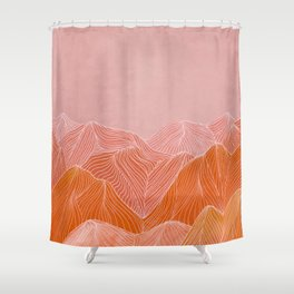 Lines in the mountains - pink II Shower Curtain
