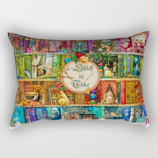 A Stitch In Time Rectangular Pillow