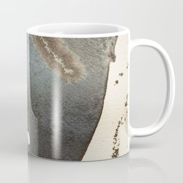Abstract map blue and black ink drawing Coffee Mug