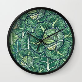 dreaming cabbages Wall Clock