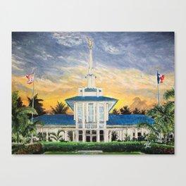 Papeete Tahiti LDS Temple Canvas Print