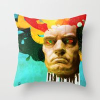 beethoven Throw Pillows featuring Beethoven by Ed Pires