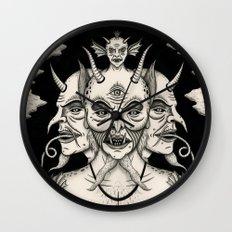 Weeping Demon Wall Clock