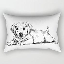 Golden retriever puppy print Rectangular Pillow