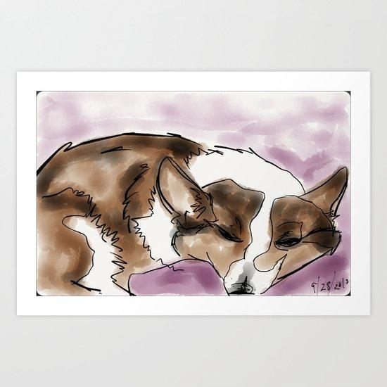 Corgi 4 Art Print