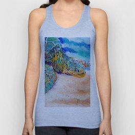Colorful Sea Turtle Unisex Tank Top