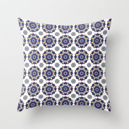 Sam's blue and red spanish tiles Throw Pillow