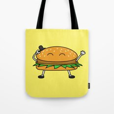 Burger with Hat Tote Bag