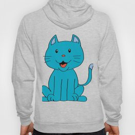 cat light blue Hoody