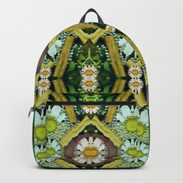 Bread sticks and fantasy flowers in a rainbow Backpack