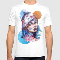Sophia by carographic SMALL White Mens Fitted Tee