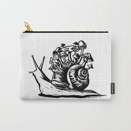 Mushroom Snail Linocut Carry-All Pouch