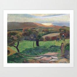 Landscape from Bretagne by Paul Gauguin Art Print