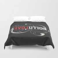 revolution Duvet Covers featuring Revolution by Mobe13