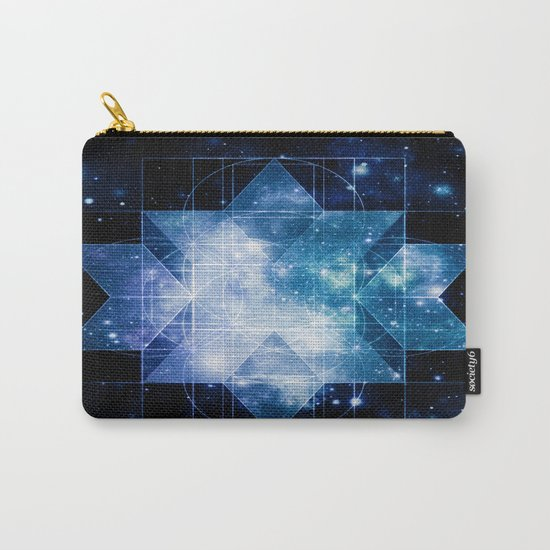 galaxy sacred geometry Turquoise Teal Carry-All Pouch