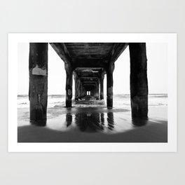 Manhattan Beach Pier Art Print