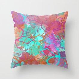 color splatter watercolor digital print Throw Pillow