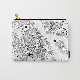 Warszawa Map Schwarzplan Only Buildings Carry-All Pouch