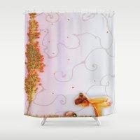 ladybug Shower Curtains featuring ladybug by Emily Tumen