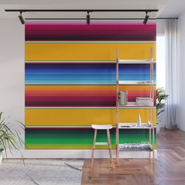 Traditional Mexican Serape in Yellow Multi Wall Mural