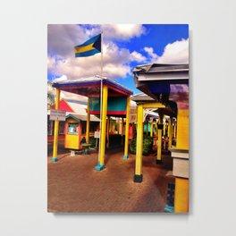 Bahamas Marketplace Metal Print