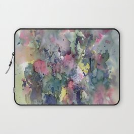 Impressionistic Watercolor of Sweet Peas Laptop Sleeve