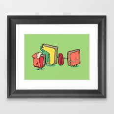 Book Jackets Framed Art Print