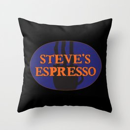 Steves Espresso Throw Pillow
