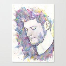 Jensen Ackles - Watercolor Canvas Print