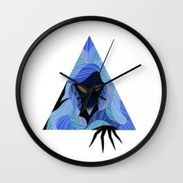 Dreaming in Blue Wall Clock