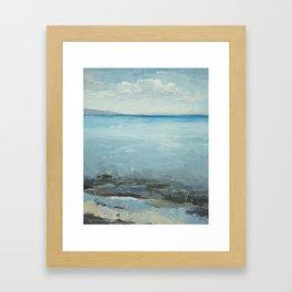 Bear Lake Blue Framed Art Print